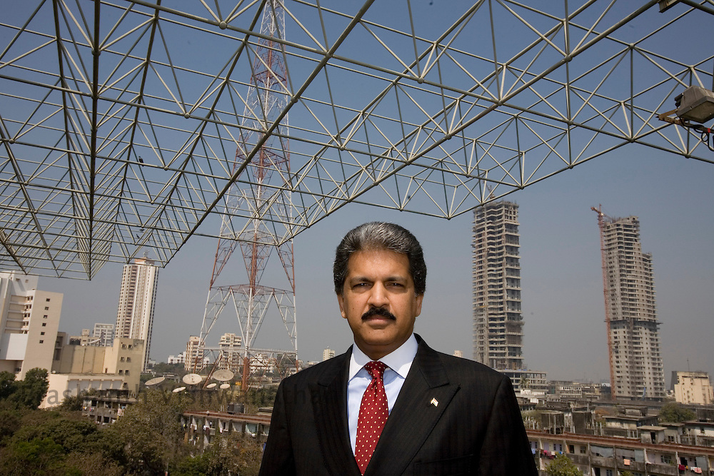 Anand Mahindra Potrait. MumbaiThursday, February 13, 2007. Photographer: Prashanth Vishwanathan