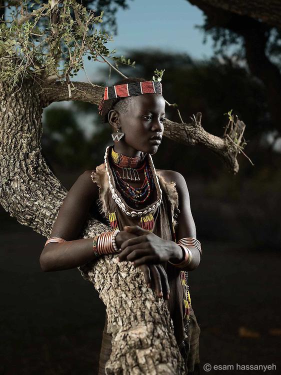 Portrait of Ito Wardo, Lower Omo Valley, Ethiopia.