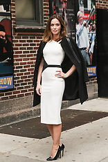 NOV 25 2014 Emily Blunt visits the Late Show With David Letterman