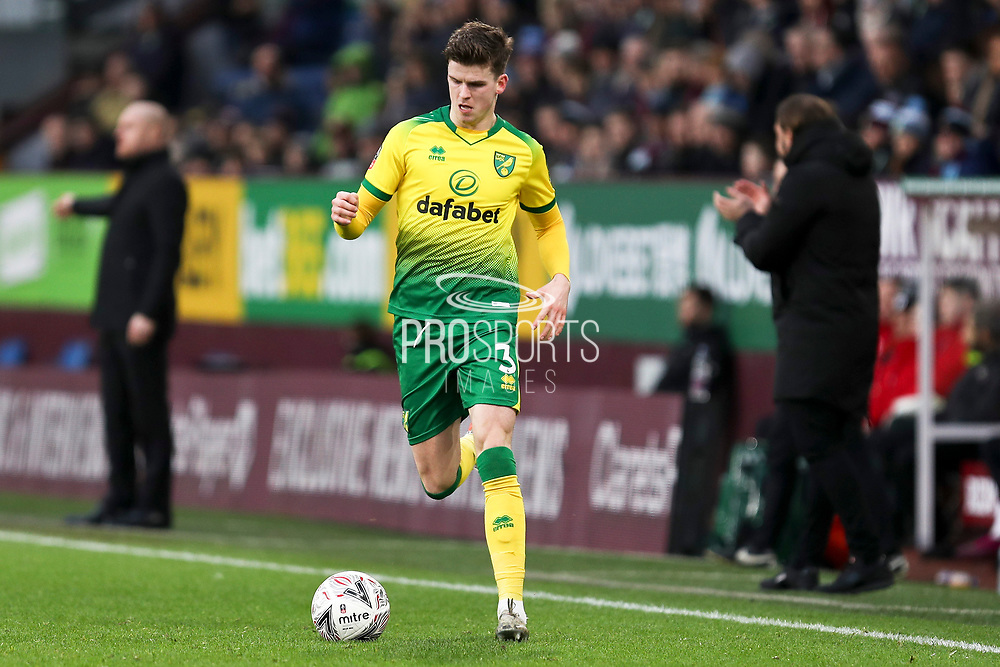 Norwich City defender Sam Byram (3) during the The FA Cup match between Burnley and Norwich City at Turf Moor, Burnley, England on 25 January 2020.