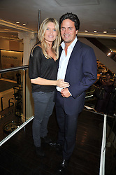 TINA HOBLEY and OLIVER WHEELER at the launch of Tom Parker Bowles's new book 'Full English' held in the Gallery Restaurant, Selfridges, Oxford Street, London on 9th September 2009.