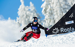 Ladina Jenny of Switzerland competes during Qualification Run of Ladies' Parallel Giant Slalom at FIS Snowboard World Cup Rogla 2015, on January 31, 2015 in Course Jasa, Rogla, Slovenia. Photo by Vid Ponikvar / Sportida
