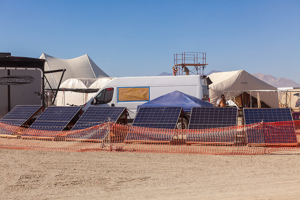Camp MisBeehive solar powering all the things! My Burning Man 2019 Photos:<br />