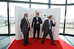 LIVERPOOL, ENGLAND - Thursday, May 12, 2016: Former Liverpool players Phil Neal, Nigel Spackman and Jimmy Case arrive on the red carpet for the Liverpool FC Players' Awards Dinner 2016 at the Liverpool Arena. (Pic by David Rawcliffe/Propaganda)