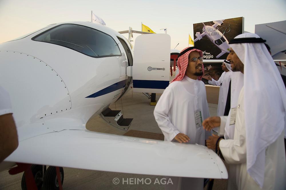Dubai 2005, 9th International Aerospace Exhibition. Sheiks interested in Piaggio business planes.