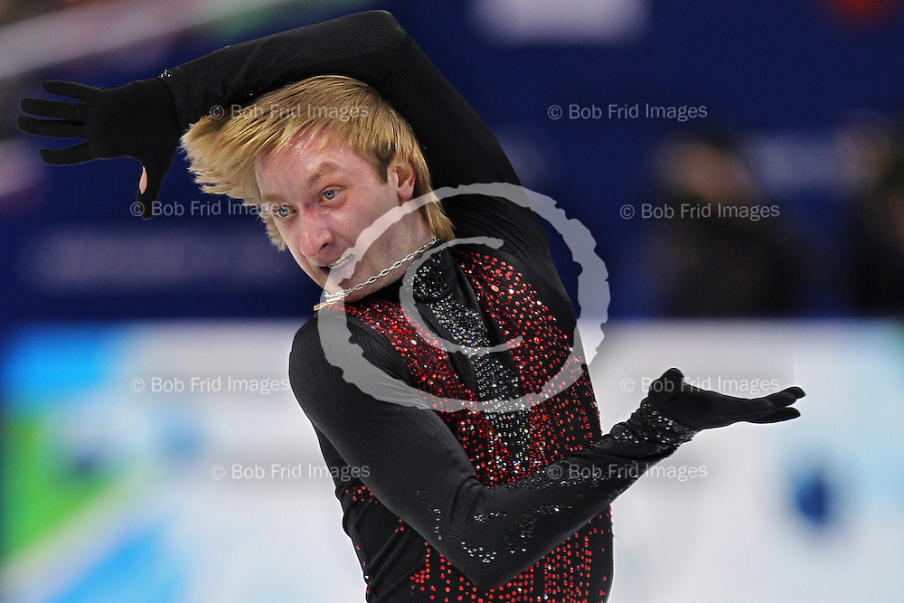 18 February 2010: silver medalist Evgeni PLUSHENKO of Russia RUS  during the Men's Figure Skating Free Skate Program held at the Pacific Coliseum during the Vancouver 2010 Winter Olympics  in Vancouver,  British Columbia, Canada..