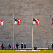 Tourists at the Washington Monument