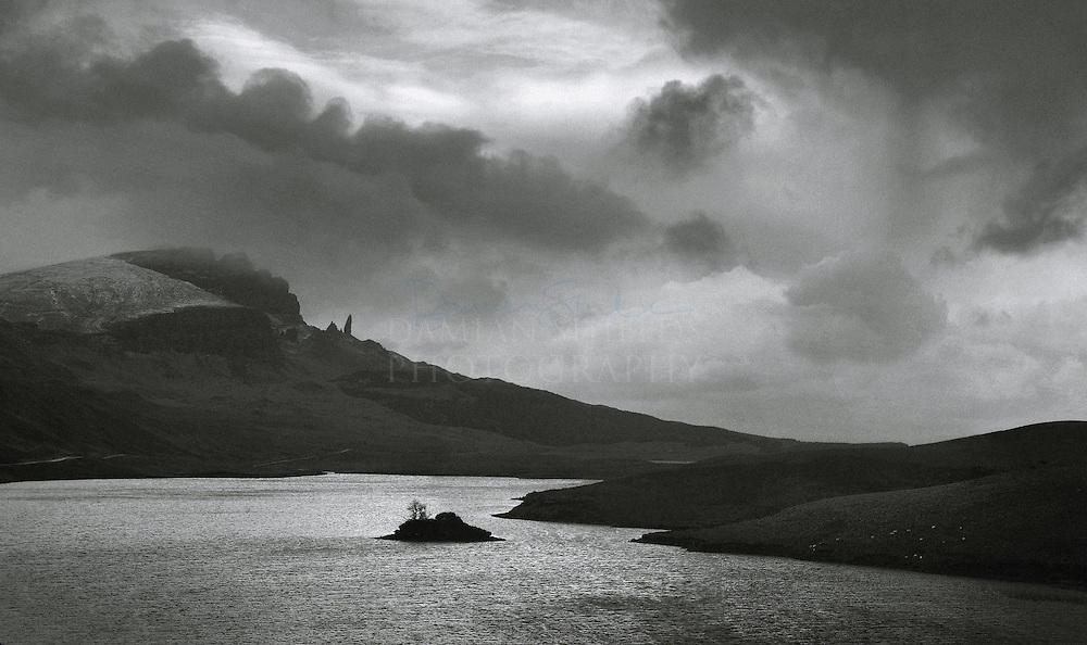 Loch Leathan and the Old man of Storr, Trotternish ridge, Isle of Skye