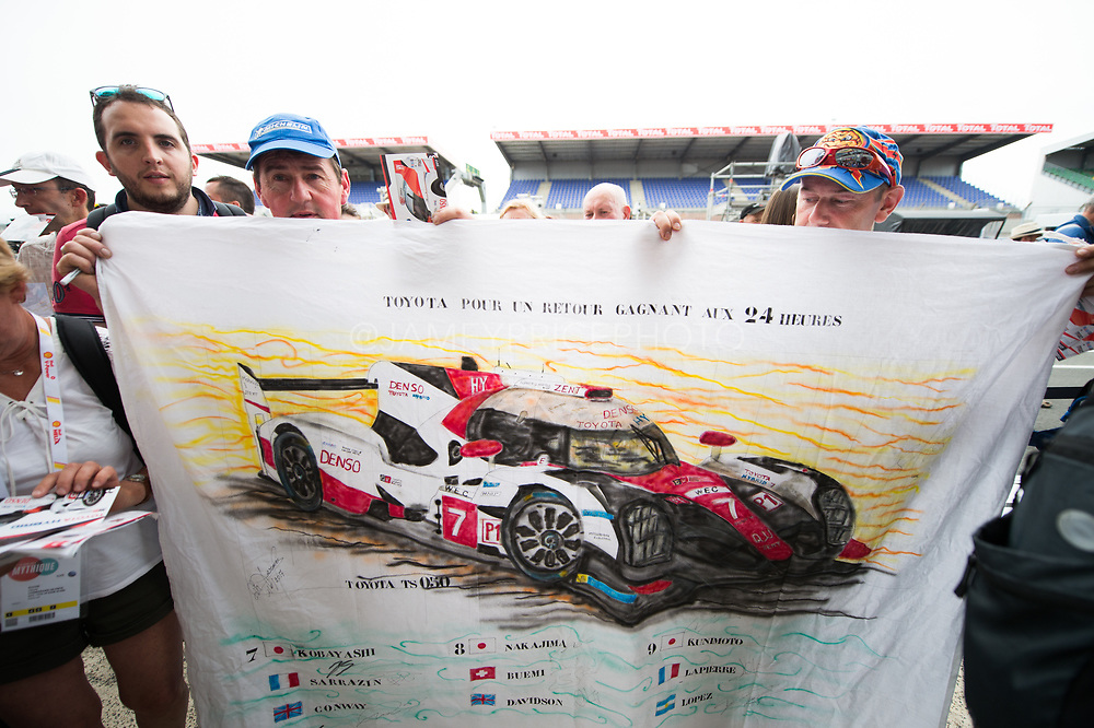 June 13-18, 2017. 24 hours of Le Mans. Toyota fans