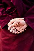 Monks at Hemis monastery, Leh valley.