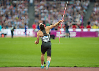Athletics - 2017 IAAF London World Athletics Championships - Day Nine, Evening Session<br /> <br /> Mens Decathlon - Javelin<br /> <br /> Kai Kazmirek (Germany) launches the javelin at the London Stadium<br /> <br /> COLORSPORT/DANIEL BEARHAM