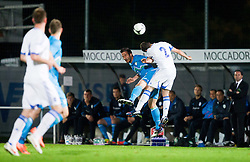 Zlatan Ljubijankic of Slovenia vs Maniatis Ionannis of Greece during friendly football match between national teams of Slovenia and Greece, on May 26, 2012 in Kufstein, Austria.   (Photo by Vid Ponikvar / Sportida.com)