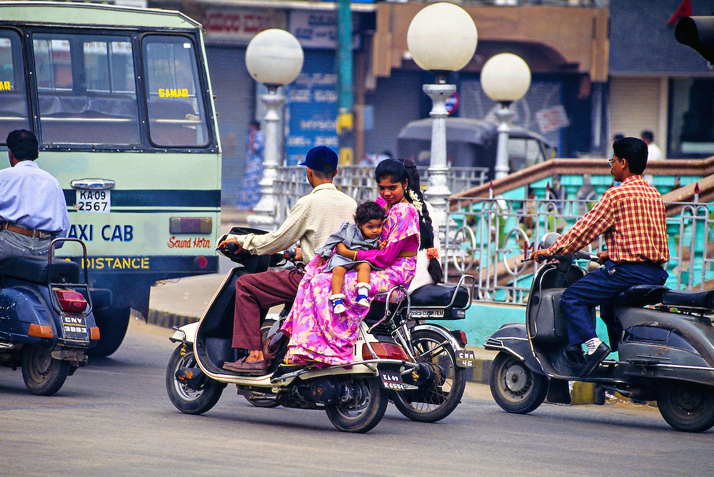 Motorscooters, Mysore, Karnataka, India