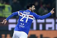 esultanza gol Roberto Soriano Sampdoria Goal celebration <br /> Genova 05-01-2016 Stadio Marassi. Football Calcio Serie A 2015/2016 Genoa - Sampdoria / foto Image Sport/Insidefoto