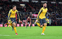 Olivier Giroud of Arsenal celebrates. - Mandatory by-line: Alex James/JMP - 03/01/2017 - FOOTBALL - Vitality Stadium - Bournemouth, England - Bournemouth v Arsenal - Premier League
