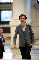 DEU, Deutschland, Germany, Berlin, 02.02.2018: Die Thüringer Finanzministerin Heike Taubert (SPD) vor einer Sitzung im Bundesrat.
