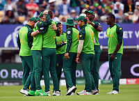 Cricket - 2019 ICC Cricket World Cup - Group Stage: New Zealand vs. South Africa<br /> <br /> South Africa's Chris Morris celebrates taking the wicket of New Zealand's Ross Taylor caught by South Africa's Quinton de Kock for 1, at Edgbaston, Birmingham.<br /> <br /> COLORSPORT/ASHLEY WESTERN