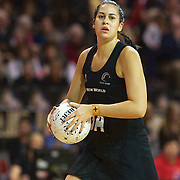 Paula Griffin, New Zealand, in action during the New Zealand V England, New World International Netball Series, at the ILT Velodrome, Invercargill, New Zealand. 6th October 2011. Photo Tim Clayton...