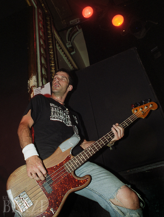 Karl Alvarez performs with ALL in Detroit, Michigan on July 29, 2000. Alvarez is a founding member of ALL and a member of the punk pop pioneers the Descendents.