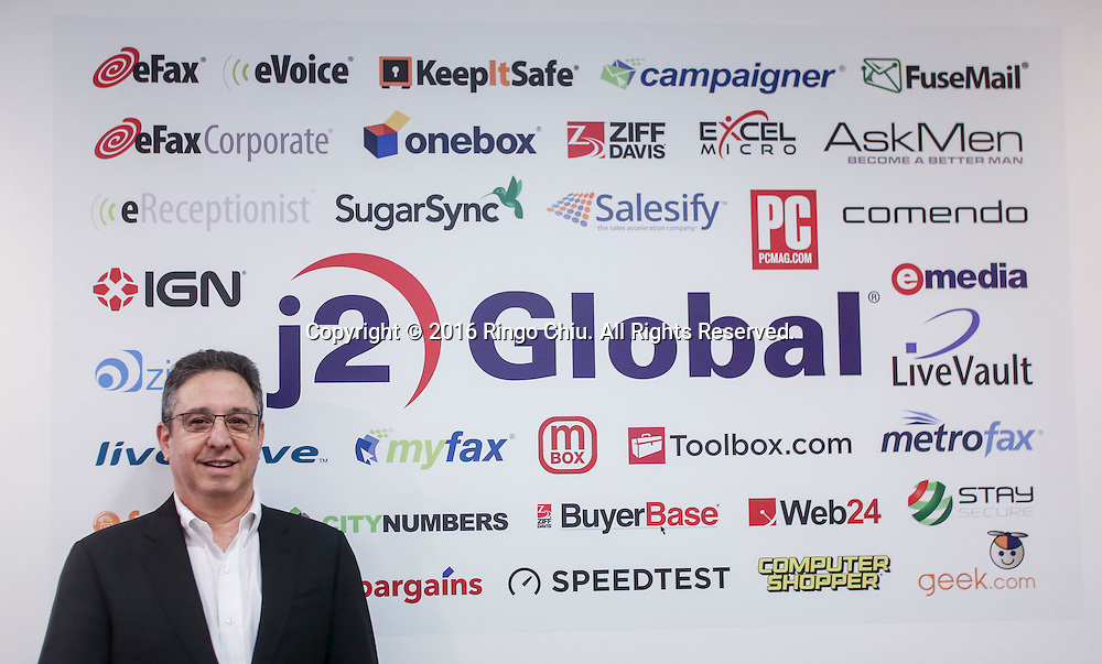 Hemi Zucker, CEO of J2 Global. (Photo by Ringo Chiu/PHOTOFORMULA.com)<br /> <br /> Usage Notes: This content is intended for editorial use only. For other uses, additional clearances may be required.
