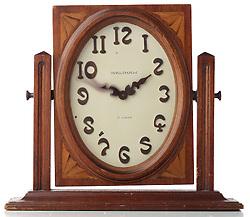 wood waltham clock