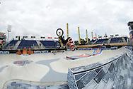 Daniel Dhers during Men's BMX Park Practice at the 2013 X Games Barcelona in Barcelona, Spain. ©Brett Wilhelm/ESPN
