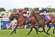 OLLIVANDER (4) ridden by Conor McGovern and trained by David O'Meara winning The Michael Foster Memorial Handicap Stakes (Div.1) over 7f (£9,900)   during a Very British Raceday at Beverley Racecourse, Beverley, United Kingdom on 8 June 2019.