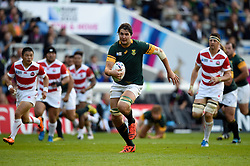 Lodewyk De Jager of South Africa goes on the charge - Mandatory byline: Patrick Khachfe/JMP - 07966 386802 - 19/09/2015 - RUGBY UNION - Brighton Community Stadium - Brighton, England - South Africa v Japan - Rugby World Cup 2015 Pool B.