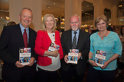 """John Boyle, Donal Lyons Myra Lyons and Alice dunne at the launch of  Ronan Scully's new book """"Time Out"""" An Innovative collaboration of words, reflections and stories of goodness, tenderness and positivity for all our lives combine to great effect in this new publication published by Ballpoint Press in aid of Self Help Africa and `The Irish Guide dogs for the Blind  at Hotel Meyrick in Galway. Picture:Andrew Downes"""