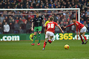 Nottingham Forest midfielder Ben Osborn runs to the Bristol goal just before putting Forest 1-0 up during the Sky Bet Championship match between Nottingham Forest and Bristol City at the City Ground, Nottingham, England on 27 February 2016. Photo by Jon Hobley.