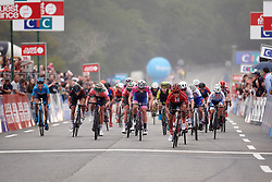 Coryn Rivera (USA) wins sprint for second during GP de Plouay - Lorient Agglomération Trophée WNT, a 128 km road race in Plouay, France on August 31, 2019. Photo by Sean Robinson/velofocus.com