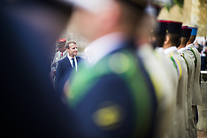 Emmanuel Macron attends a ceremony commemorating 1940 appeal for French resistance - 18 June 2018