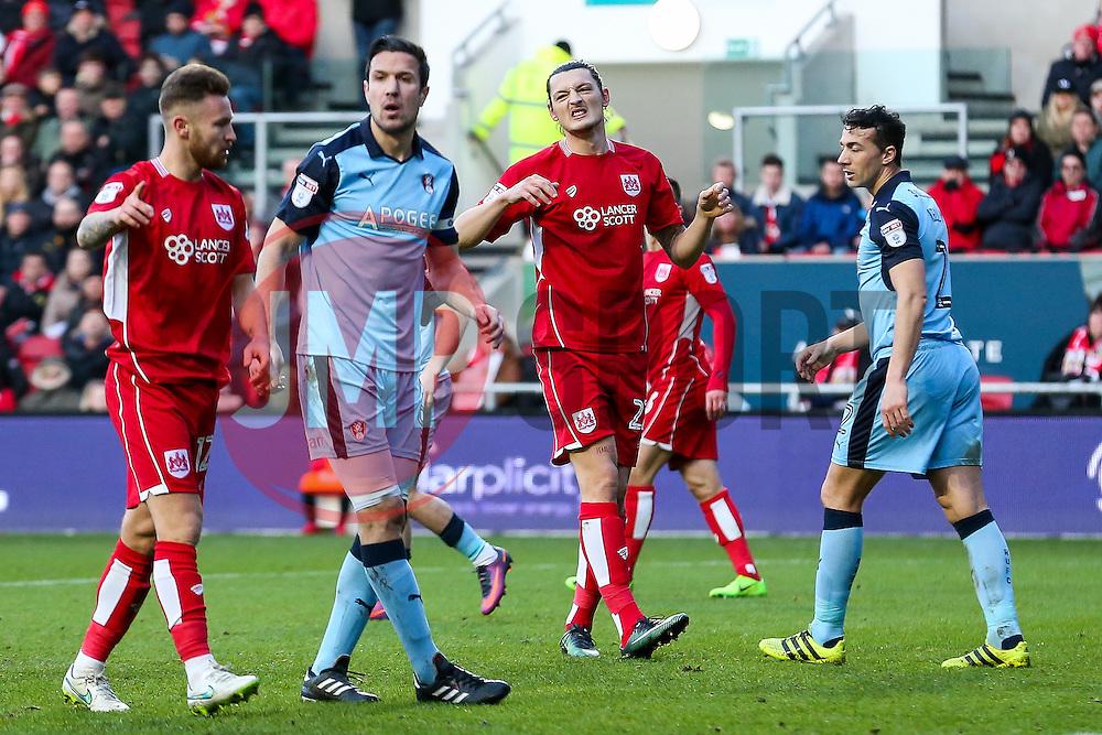 Milan Djuric of Bristol City - Rogan Thomson/JMP - 04/02/2017 - FOOTBALL - Ashton Gate Stadium - Bristol, England - Bristol City v Rotherham United - Sky Bet Championship.