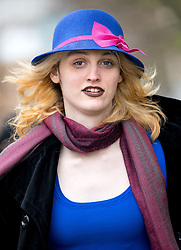 © Licensed to London News Pictures. 13/04/2018. London, UK. Transgender activist Tara Wolf arrives at Hendon Magistrates Court after a lunch break, following the morning of the second day of her trial. Maria Maclachlan (not pictured) claims 26-year-old Tara Wolf punched and pushed her during a clash at Speakers' Corner in Hyde Park last September. Photo credit : Tom Nicholson/LNP