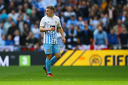 George Thomas of Coventry City has to leave the pitch to change his shirt because he has blood on the neck - Photo mandatory by-line: Jason Brown/JMP -  02/04//2017 - SPORT - Football - London - Wembley Stadium - Coventry City v Oxford United - Checkatrade Trophy Final