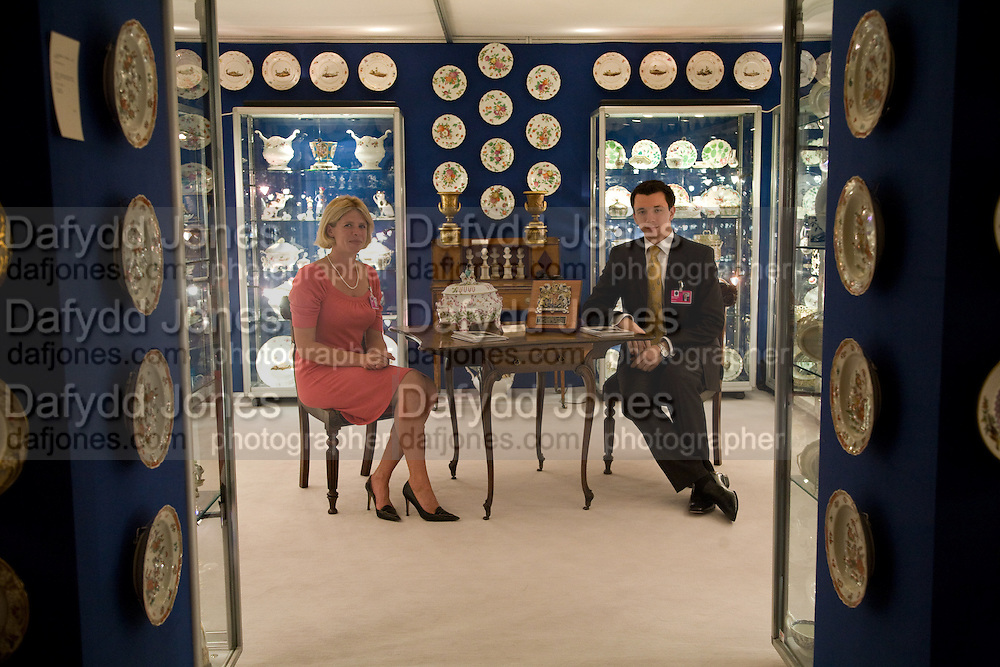 NICKY FORD AND BEAU BECQUART. The Opening of the Grosvenor House Antiques Fair. Grosvenor House. Park Lane. London. 11 June 2008.  *** Local Caption *** -DO NOT ARCHIVE-© Copyright Photograph by Dafydd Jones. 248 Clapham Rd. London SW9 0PZ. Tel 0207 820 0771. www.dafjones.com.