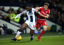 West Bromwich Albion's Rekeem Harper and Nottingham Forest's Ben Osborn during the Sky Bet Championship match at The Hawthorns, West Bromwich.