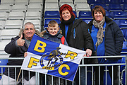 Bristol Rovers fans getting ready for the game before the EFL Sky Bet League 1 match between Bristol Rovers and Doncaster Rovers at the Memorial Stadium, Bristol, England on 23 December 2017. Photo by Gary Learmonth.