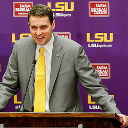 Mar 22, 2017; Baton Rouge, LA, USA; LSU Tigers head coach Will Wade talks to the media during his introductory press conference at the LSU Student Union. Mandatory Credit: Derick E. Hingle-USA TODAY Sports