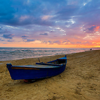 Sunrise at Ghamart beach in Tunisia