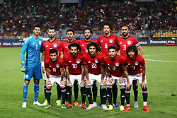 ALEXANDRIA, Nov. 17, 2018  Players of Egypt take group photos before the 2019 Africa Cup of Nations qualifier match between Egypt and Tunisia in Alexandria, Egypt, on Nov. 16, 2018. Egypt won 3-2. (Credit Image: © Ahmed Gomaa/Xinhua via ZUMA Wire)