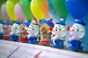 Retro balloon clown game at fair