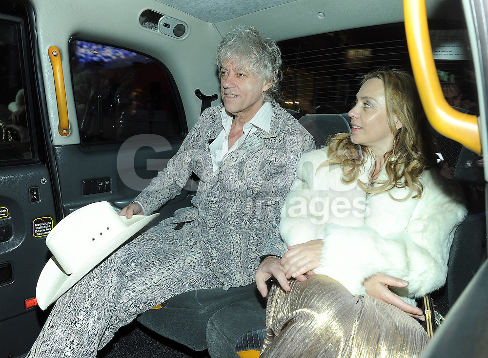 Sir Bob Geldof and Jeanne Marine attend Fran Cutler's 50th birthday party at The Box Club in London, UK. 01/05/2013<br />