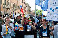 Roma, 2 Giugno 2012.I movimenti del Forum Acqua Bene Comune manifestano per chiedere l'attuazione dell' esito referendario contro la privatizzazione dell'acqua