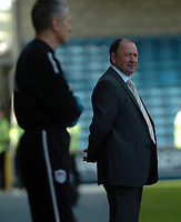 Photo: Tony Oudot.<br /> Millwall v Bristol City. Coca Cola League 1. 28/04/2007.<br /> Gary Johnson the Bristol City manager is dejected after his team lose the chance of promotion
