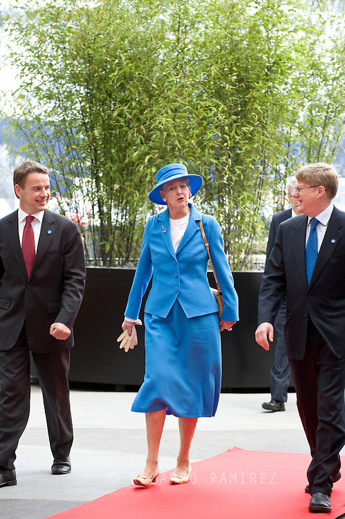04.07.2013. Copenhagen, Denmark.H. M. Queen Margrethe II arrival to officially opened UN City in Copenhagen.Photo:© Ricardo Ramirez