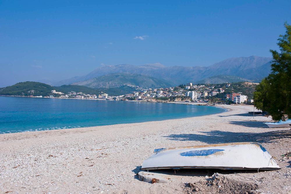 Strand von Himara, Albanien,Balkan*Beach of Himara, Albania,Balkan