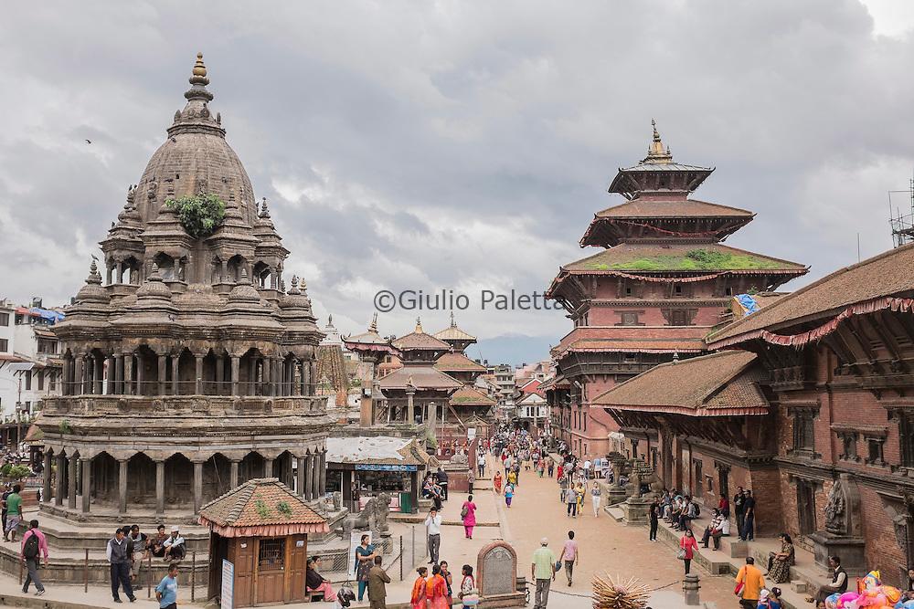 View of temples of Patan durbar square, Kathmandu, Nepal