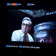 January 10, 2016 - New York, NY : Mars Incorporated enlisted the advertising agency BBDO -- as well as some notable Hollywood actors -- to create a 2016 Superbowl advertisement for their iconic Snickers candy bar at 19th Street Studios in Astoria, Queens, New York City on Sunday, Jan. 10. The actor Eugene Levy can be seen on a monitor in the studio as he films his scene on Sunday morning.  CREDIT: Karsten Moran for The New York Times