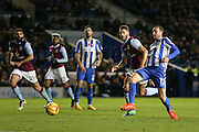 Brighton & Hove Albion centre forward Glenn Murray (17) with a chance during the EFL Sky Bet Championship match between Brighton and Hove Albion and Aston Villa at the American Express Community Stadium, Brighton and Hove, England on 18 November 2016. Photo by Phil Duncan.